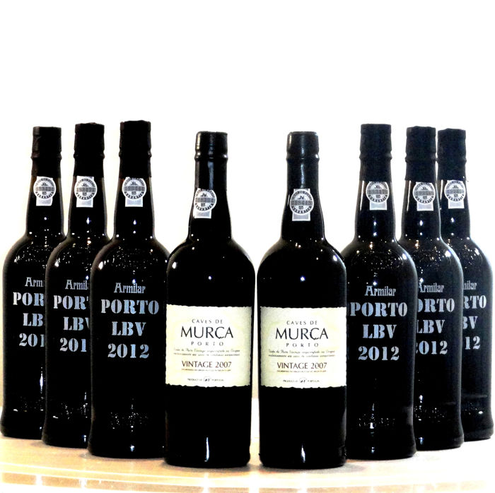 Mixed lot -  2x 2007 Caves Murça Vintage Port & 6x 2012 Armilcar Late Bottled Vintage Port - 8 Bottles (0.75L)