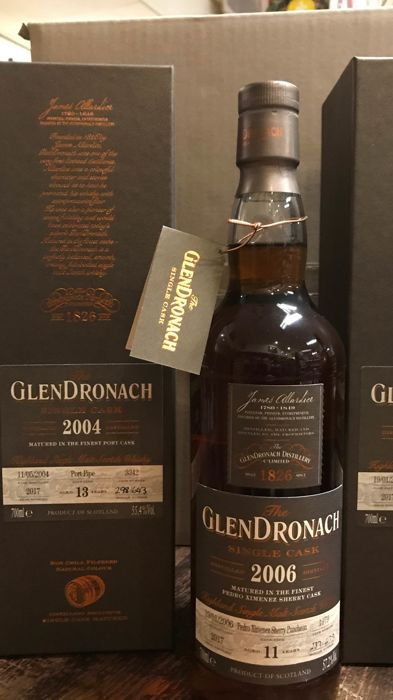 Glendronach 2006 11 years old and 2004 13 years old - 0,7 Liter - 2 flessen