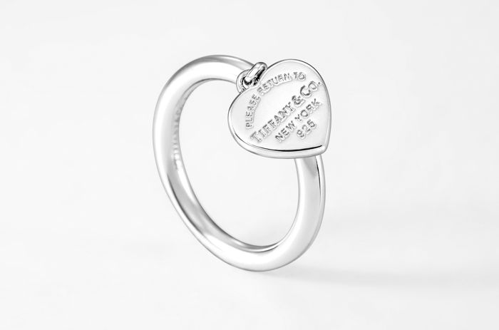 Tiffany & Co. 35243666 Return to Tiffany® Heart Tag Ring Argent - Bague