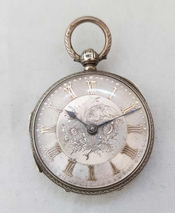 1895 - England - Chester - Charles Harris - silver pocket watch NO RESERVE PRICE - Homem - 1850-1900