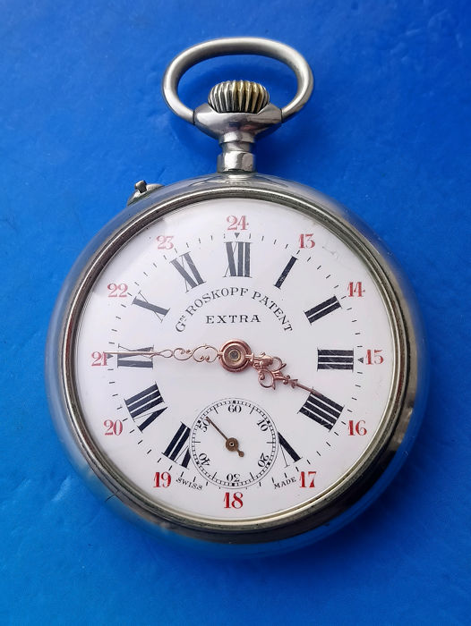 Roskopf - pocket watch  - NO RESERVE PRICE - Homem - 1880-1910