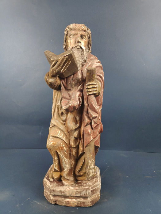Large sculpture of Moses - Wood - Second half 19th century