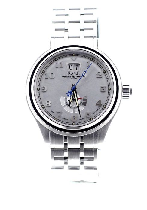 BALL - Trainmaster Cleveland Express Power Reserve Automatic Silver Dial Full Steel - PM1058D-SJ-SL - Unisexe - 2019