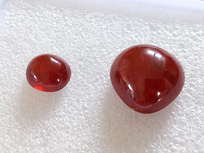 2 pcs  Garnet, Spessartite - 35.16 ct