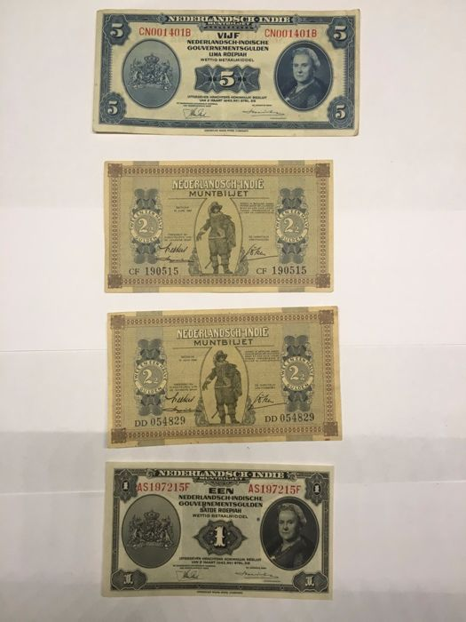 World - Neth. Indies, Indonesia - 11 banknotes 1940-1947
