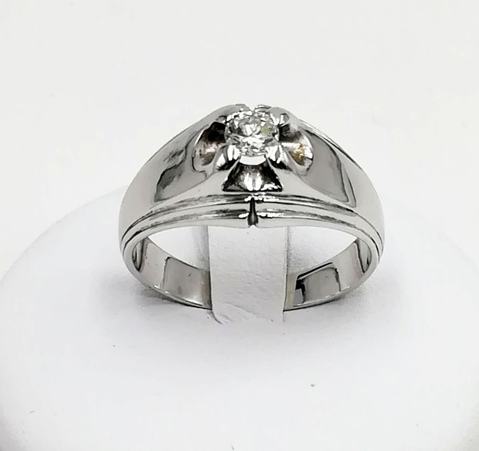18 quilates Oro blanco - Anillo - 0.25 ct Diamante