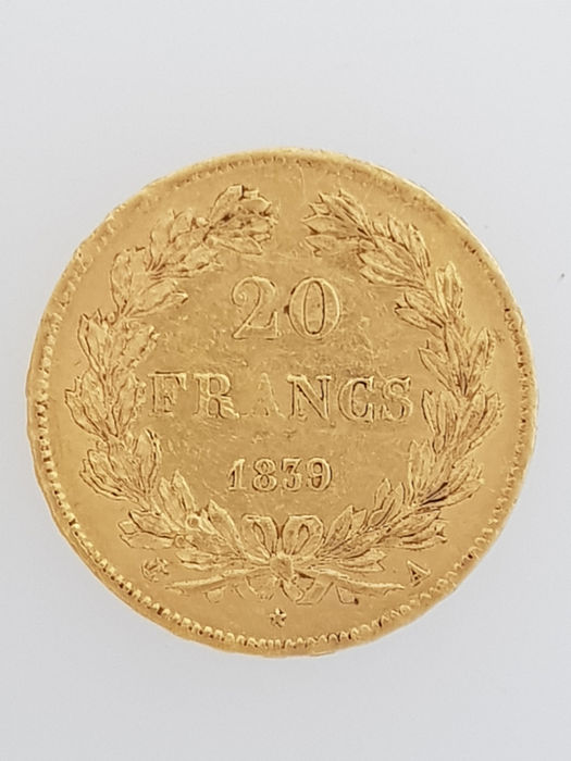 20 Francs 1839 A Louis Philippe I - Or