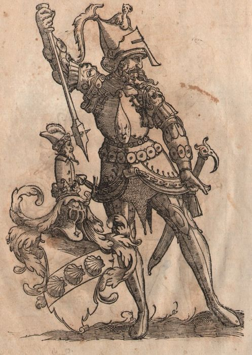 Christoph Weiditz II (1517 - 1572) - Medieval knights in armor - Renaissance woodcuts