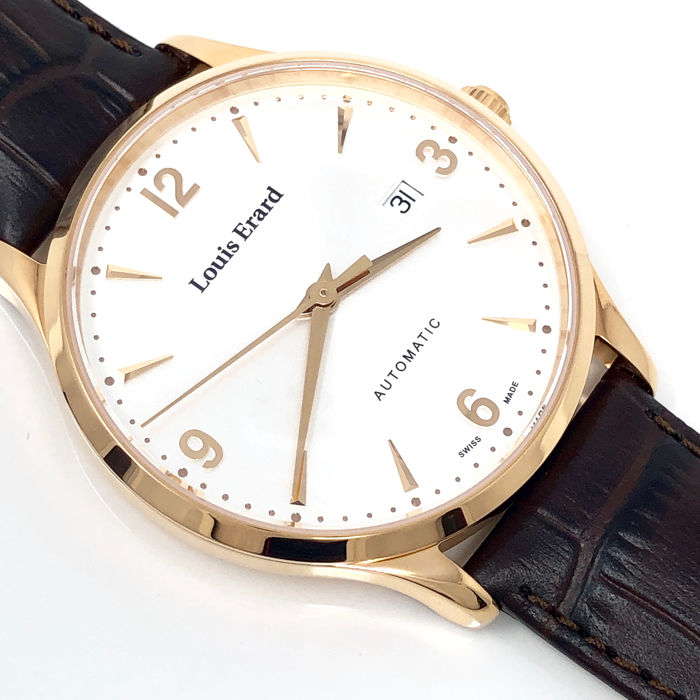 Louis Erard - 1931 Automatic Rose Gold with Silver Dial - 69219PR11.BRC80 - Hombre - BRAND NEW