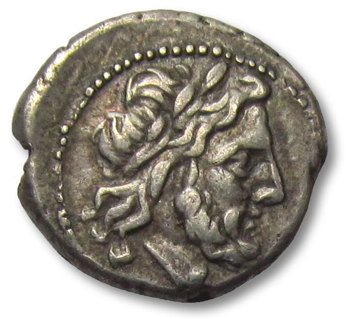 Roman Republic - AR Victoriatus, anonymous issue -  Rome 211-208 B.C. - early Roman coin, minted at the same time when the first denarii were introduced - Silver