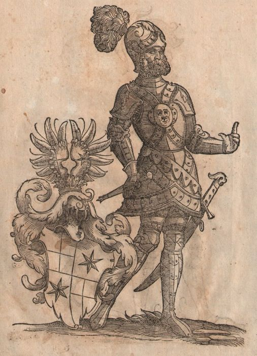 Christoph Weiditz II (1517 - 1572) - Large renaissance woodcuts medieval knights in armor -