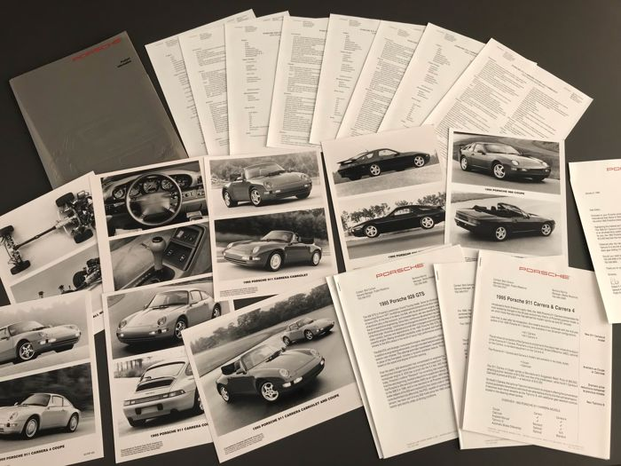 Brochures / Catalogi - Porsche - Porsche 911 968 928 GTS 993 Carrera 4 product information USA - 1994-1996