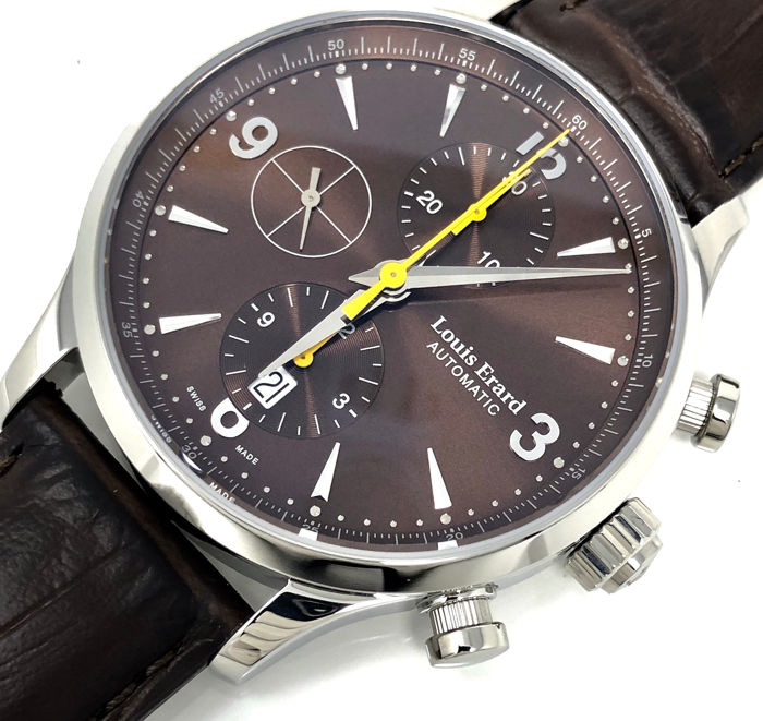 Louis Erard - Automatic Chronograph Watch 1931 Brown - 78225AA06.BDC21 - Heren - BRAND NEW