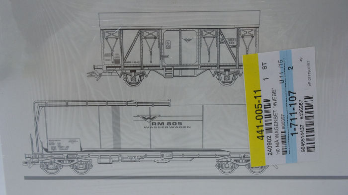 Märklin H0 - 47874 - Freight carriage - 2-part set construction train cars