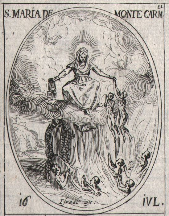 Jacques Callot ( 1592-1632 ) - Virgin Maria on mount Carmel - First edition