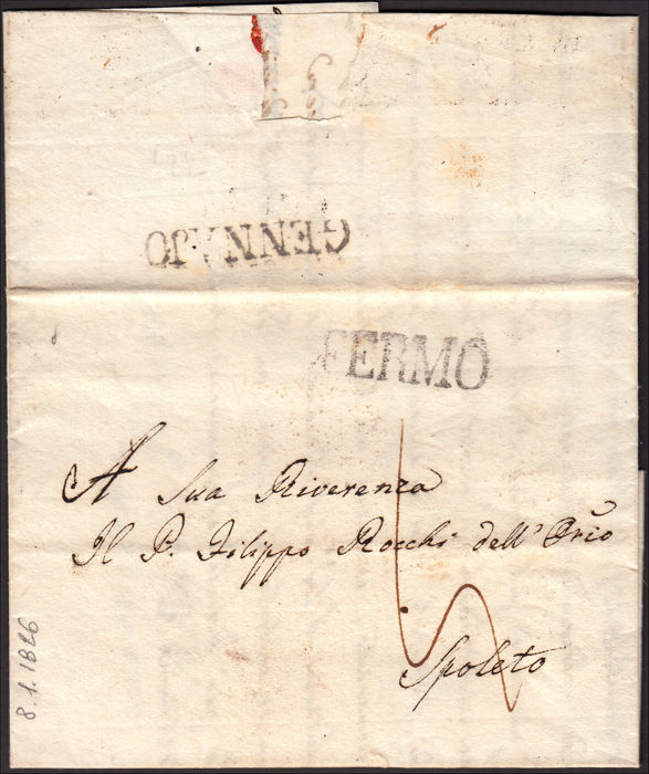 voorlopers 1784/1858 - Lot composed of 19 prephilatelic and not stamped letters. - Altro Nessuno