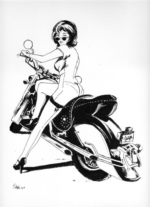 "Pin Up - original illustr. ""Betty"" - Losbladig"
