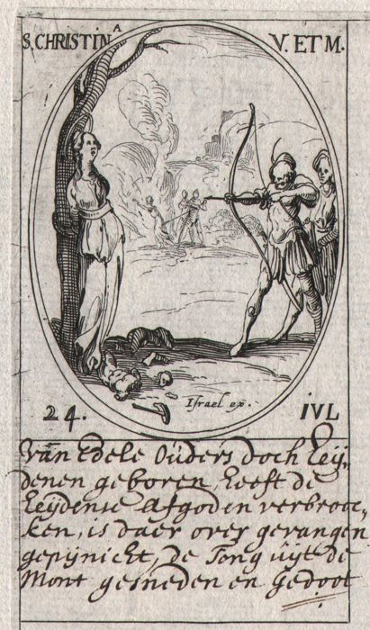 Jacques Callot ( 1592-1632 ) - S. Christina as S. Sebastian - First edition