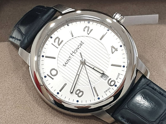 Saint Honorè - ORSAY - Withe Dial & Genuine Leather - 8610401ABFD - Swiss Made - Heren - 2011-heden