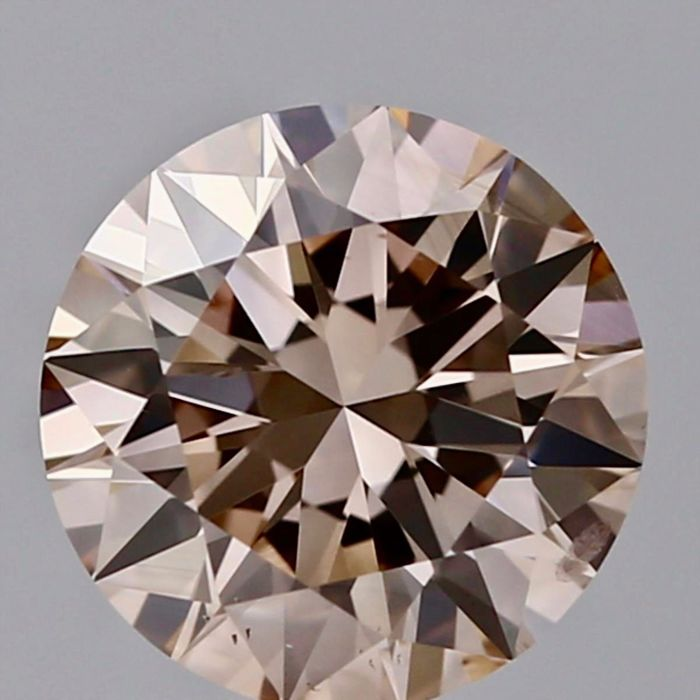 1 pcs Diamant - 1.20 ct - Rond - fancy light pinkish brown - SI1