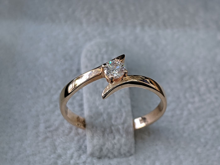 Diamonds Mine - 14 kt. Pink gold - Ring - 0.13 ct Diamond - Diamonds