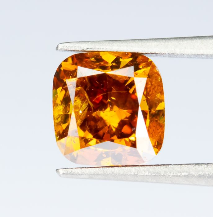 Diamante - 1.00 ct - Fantasía natural DEEP Orange - SI2