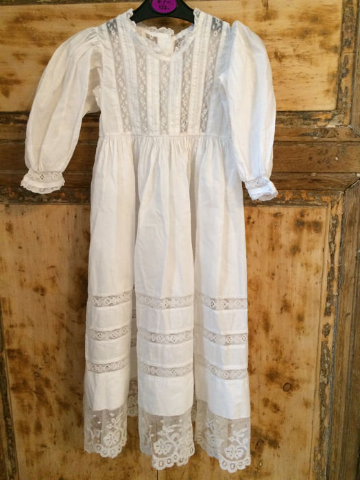1900 Baptismal Dress (1) - Cotton - Early 20th century