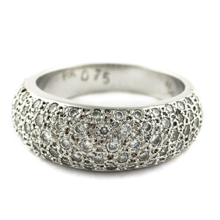Exclusive Luxury - 18 kt. White gold - Ring Diamond