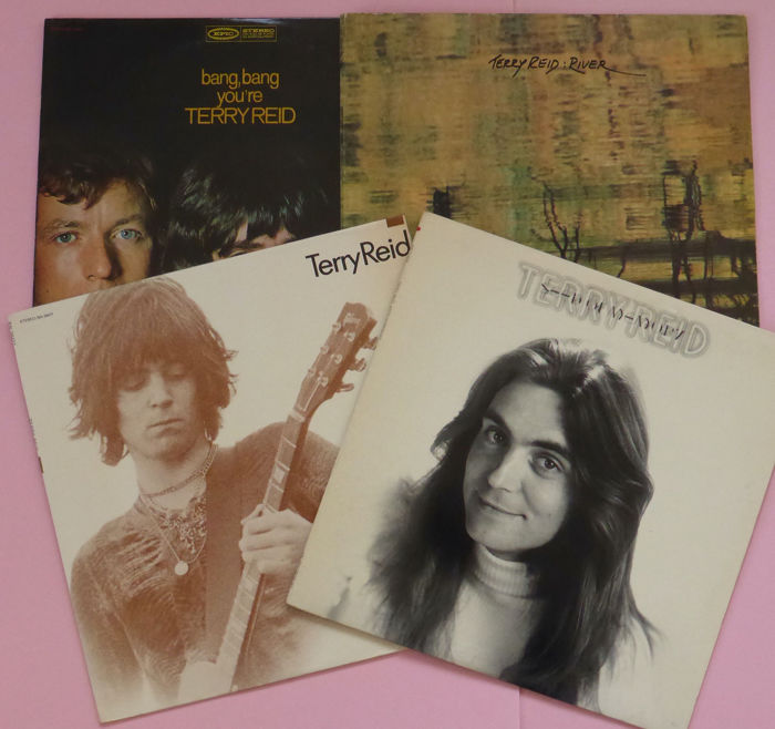 Terry Reid  - His first 4 albums Bang, Bang.., Moving Over For.., Seed of Memory, River - Diverse titels - LP's - 1968/1976
