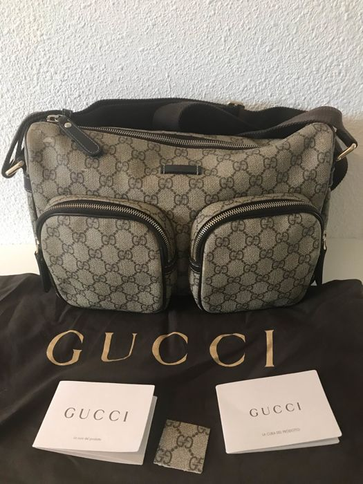 481b1698ce2 Gucci - GG Coated Canvas Front Pocket Messenger bag - Catawiki