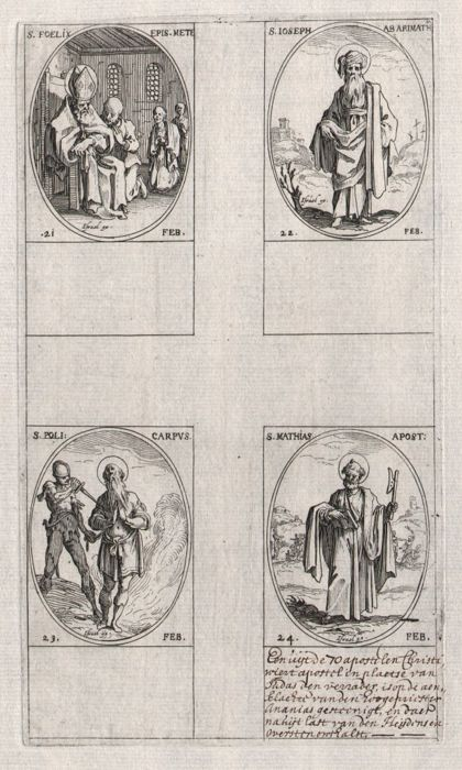 Jacques Callot ( 1592-1632 ) - St Joseph of Arimathea - First edition