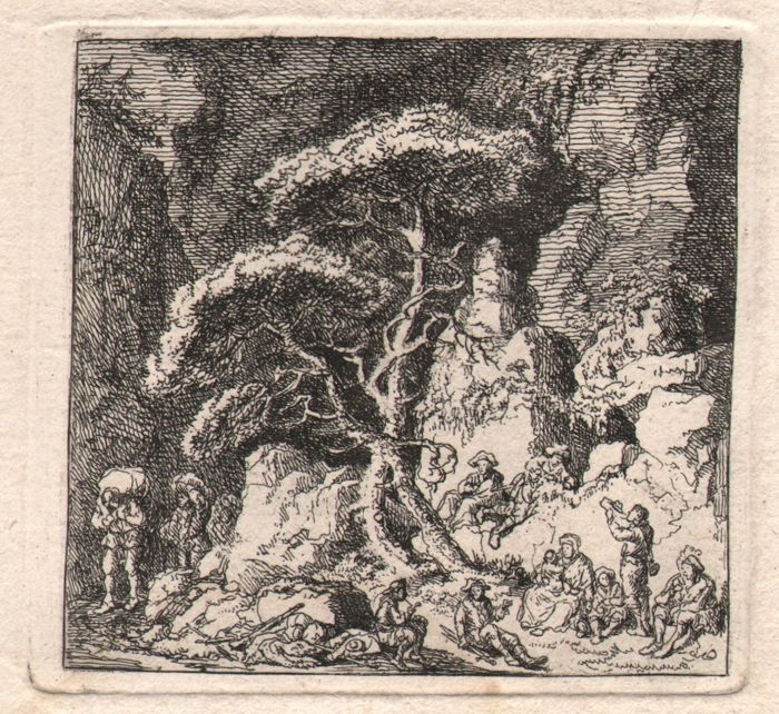Frans Edmund Weirotter (1733-1771) - Travellers in a rocky forrest