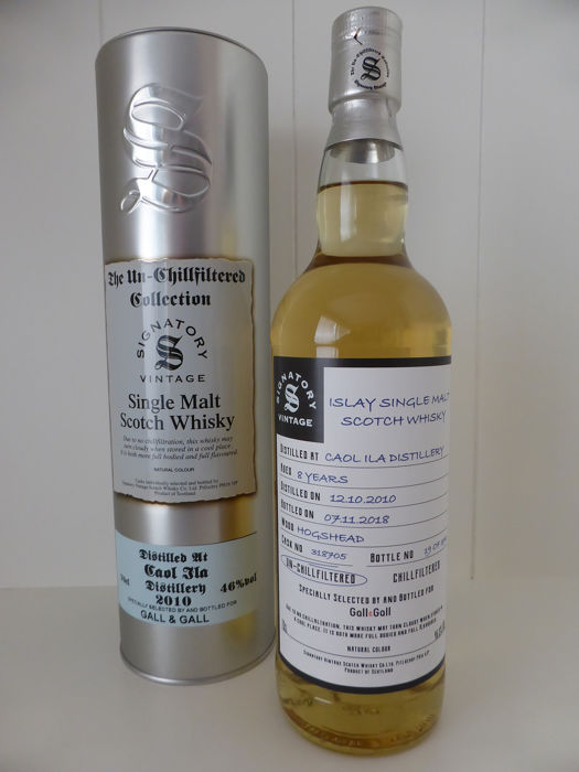 Caol Ila 2011 8 years old The Un-Chillfiltered collection - Signatory Vintage - b. 12-10-2010 - 70cl