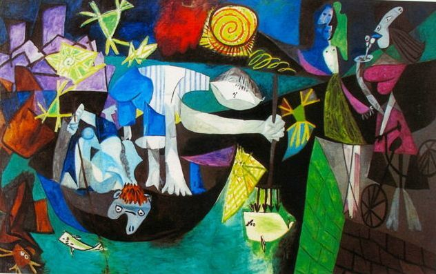 Pablo Picasso ( after ) - Night Fishing at Antibes