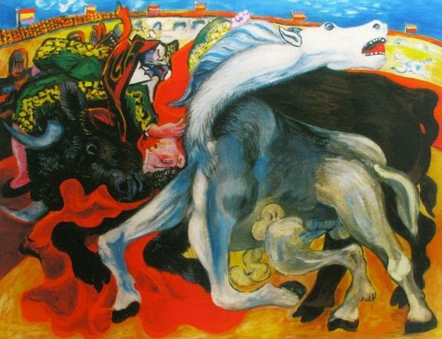 Pablo Picasso ( after ) - Bullfight Toreador