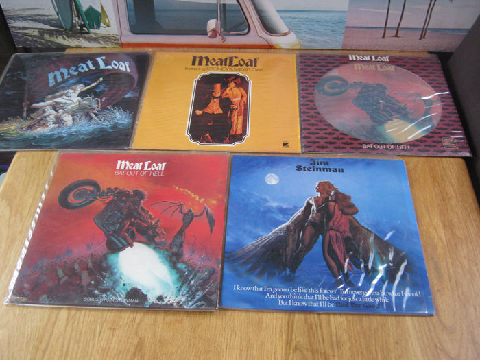 Jim Steinman, Meat Loaf - Plus one picture disc - Diverse titels - LP's - 1976/1982