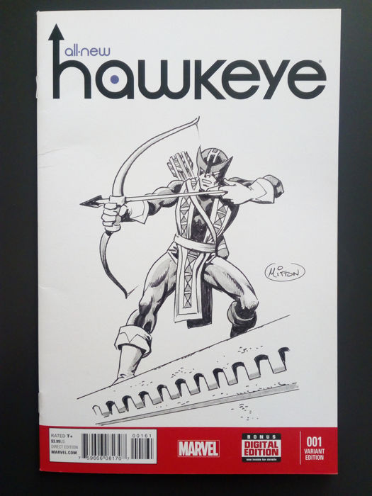 Hawkeye #1 - Blank Sketch Cover by Jean Yves Mitton - Softcover - anders - (2017)