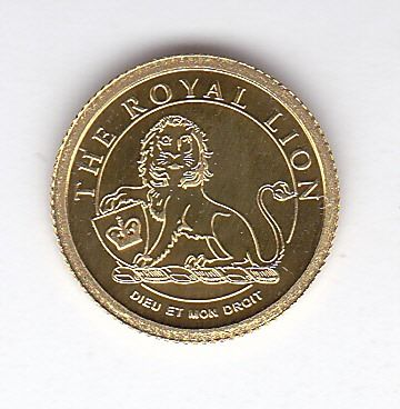 "Cook Islands - 1 dollar 2008 ""The Royal Lion"" - Gold"