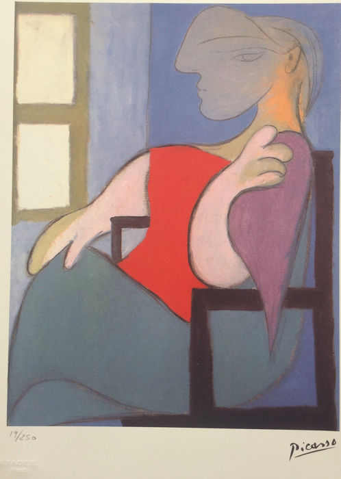 Pablo Picasso 1881 - 1973) - Femme assise