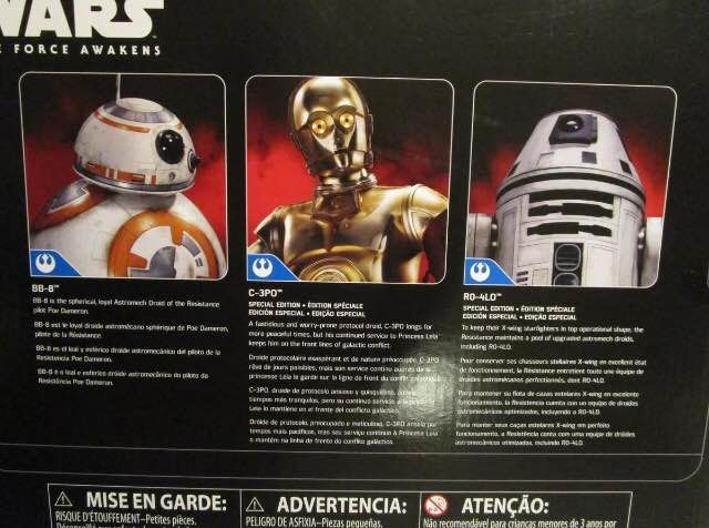 """STAR WARS THE FORCE AWAKENS 12/"""" DROID 3 PACK C-3PO,BB-8,RO-4LO EXCLUSIVE FIGURE"""