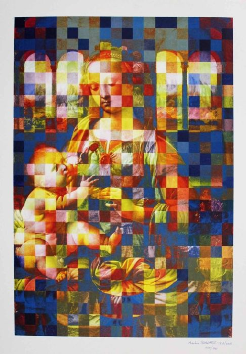 Martin Schwarz  - Madonna and Child (signed) - 2005