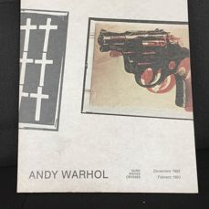 Signed; Andy Warhol  - Andy Warhol Guns Knives Crosses  - 1982