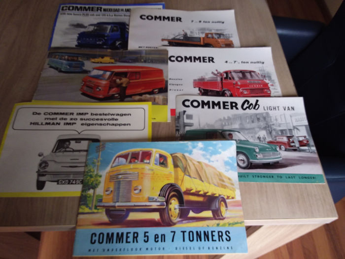 Brochures / catalogues - Commer bestelwagen / vrachtauto - Commer IMP / 5/6 TON / 2500 ETC. - 1954-1968