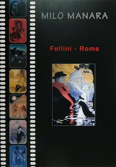 "Milo Manara - Portfolio ""Fellini Roma"" - Different editions - (2001)"