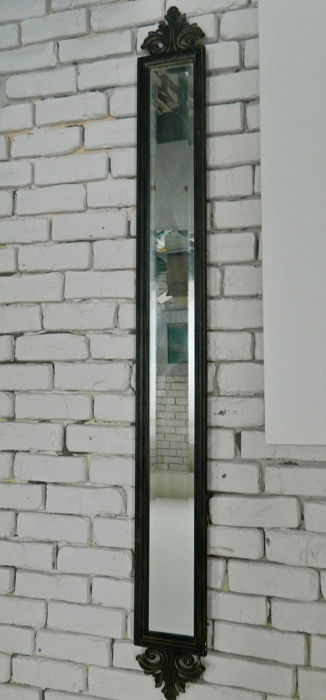 Ground mirror with metal cone - 145 cm - metal / mirror