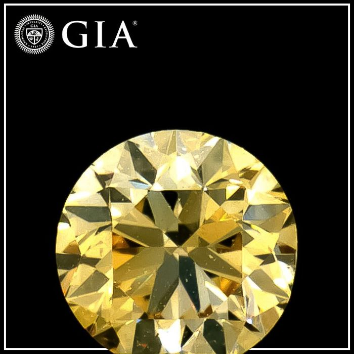 Diamante - 0.30 ct - Redondo - fancy light orangy yellow - VVS2