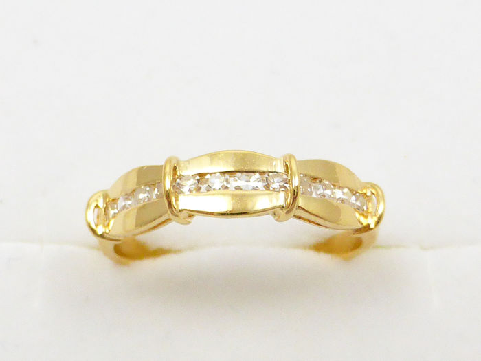 19,2 quilates Oro amarillo - Anillo - 0.36 ct Diamante