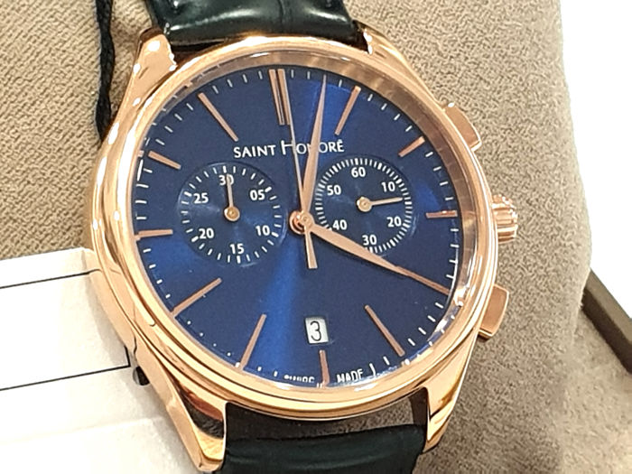 "Saint Honorè - "" NO RESERVE PRICE "" MONCEAU - IP Rose Gold 18K - 8850178DIR - Swiss Made - Genuine Leather - Heren - 2011-heden"