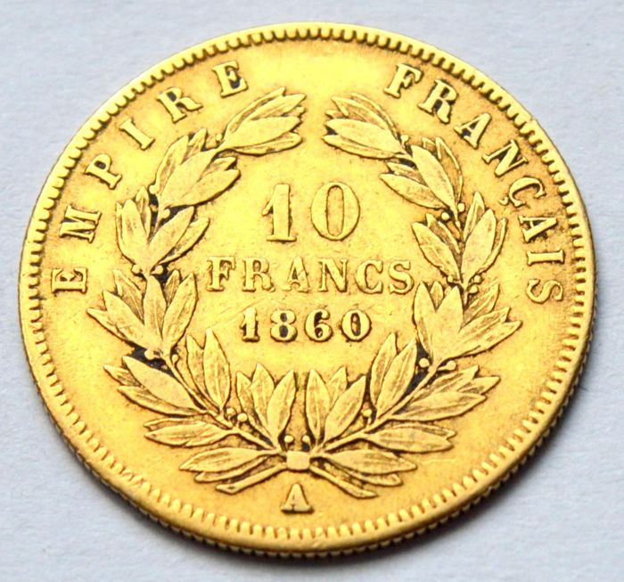 10 Francs 1860-A Napoleon III - Or