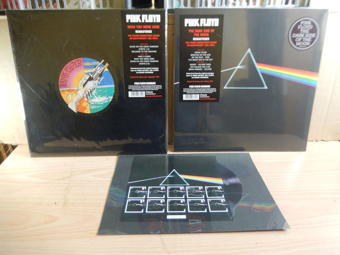 Pink Floyd - The Dark Side Of The Moon & Wish You Were Here Remastered plus Bonus Stamp Collection - Différents titres - LP's - 2016